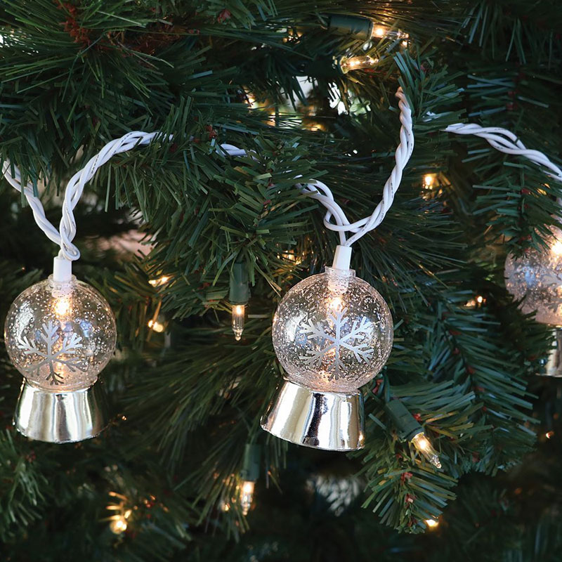 Snowglobe Party String Lights   10 Lights