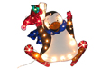 Santa & Friends Yard Art Lights & Christmas Lawn Decorations - Decorative Lawn Lighting & Party Lights