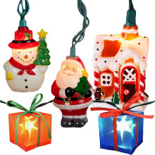 Christmas Novelty Lights Outdoor : Christmas Party String Lights - Outdoor String Lights