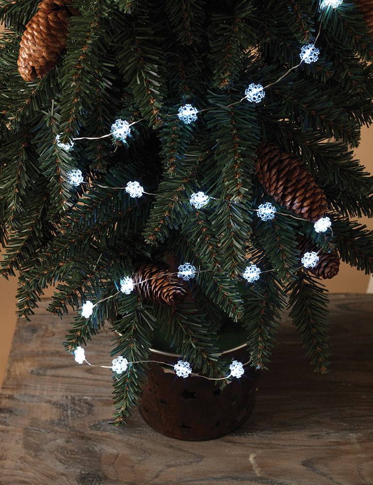 Snowflake Battery Operated LED Micro String Lights