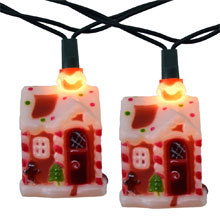 Gingerbread House Party String Light Set
