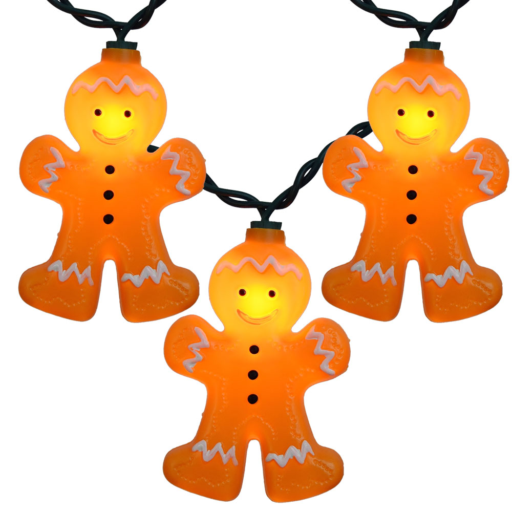 Gingerbread Christmas Novelty String Light Set Great Ideas