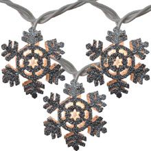 Glitter Snowflake Party String Lights - 10 Lights