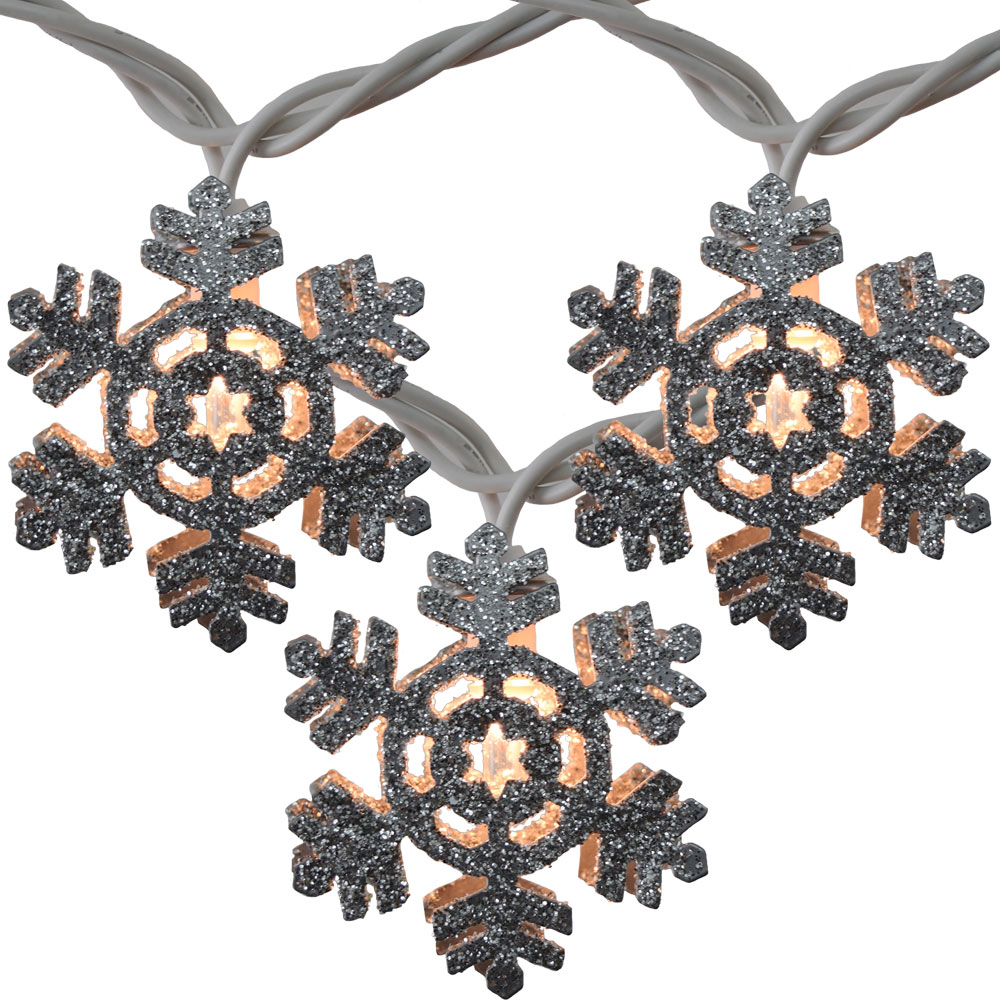 Metal Snowflake Party String Lights