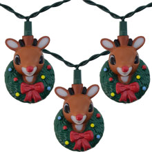 Rudolf the Red-Nosed Reindeer Christmas String Light Set