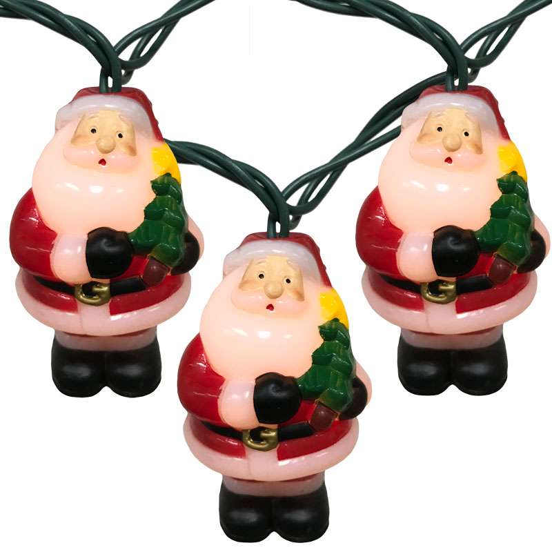 Beautiful Christmas Novelty Lights · Santa W/ Tree Party String Lights   10 Lights  UL4291 Nice Design