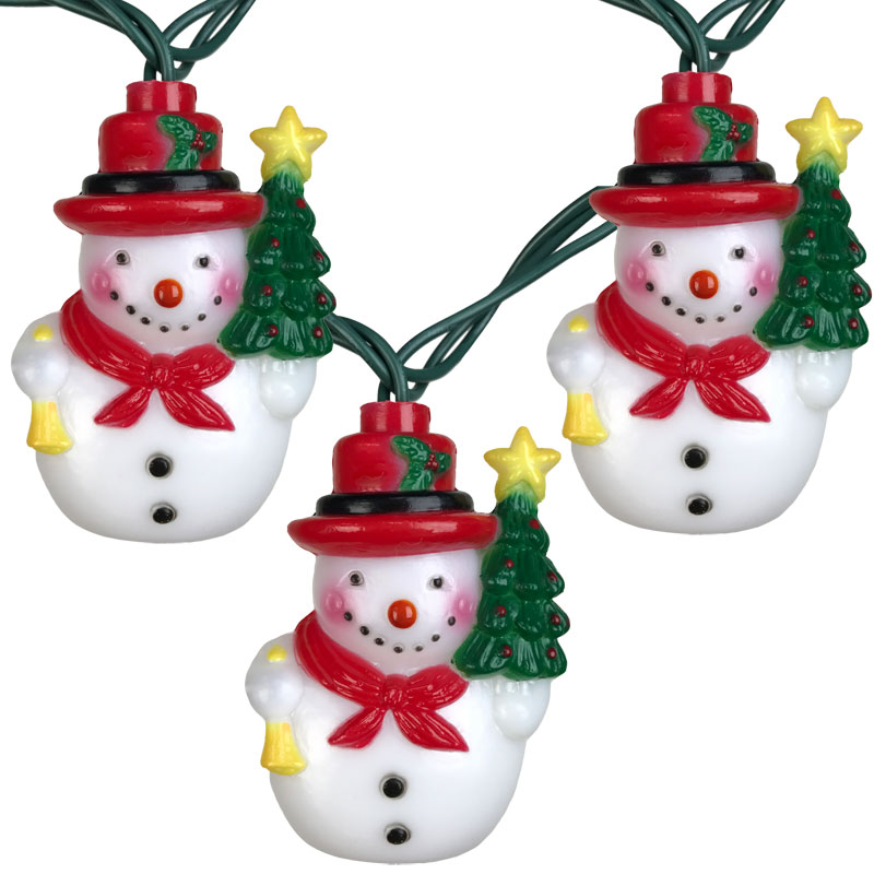 Snowman Christmas Party String Lights - 10 Lights
