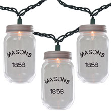 Clear Mason Jar String Lights