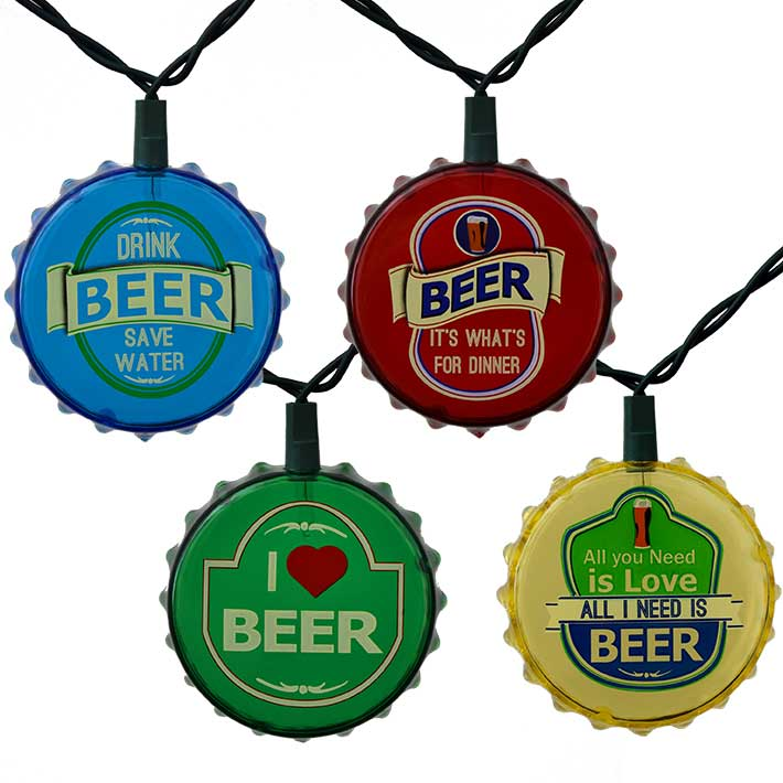Beer Garden String Lights : Beer Cap Party String Lights - 10 Lights