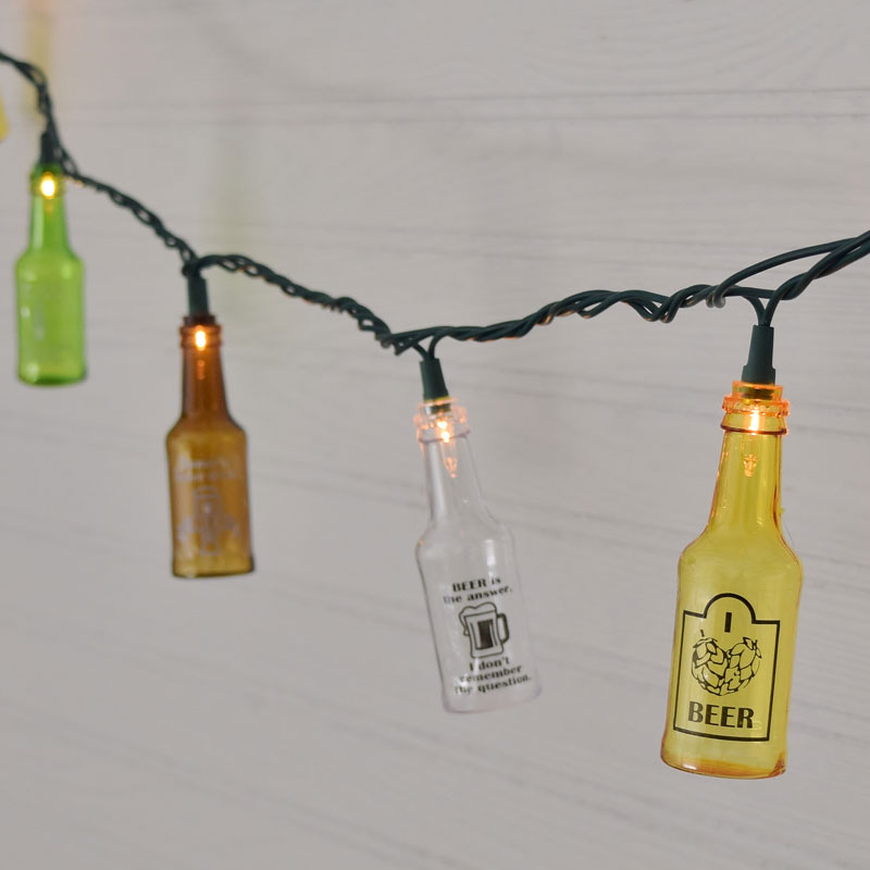 Beer Party String Lights : Beer Bottle Patio Lights Trend - pixelmari.com