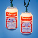 Budweiser Beer Can Party String Lights - 10 Vintage Cans - AB9140