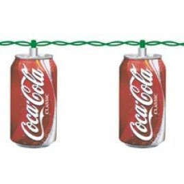 Coca Cola Soda Can Party String Lights - Collectible String Light Strands & Sets