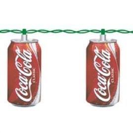 Coca Cola Soda Can Party String Lights Collectible