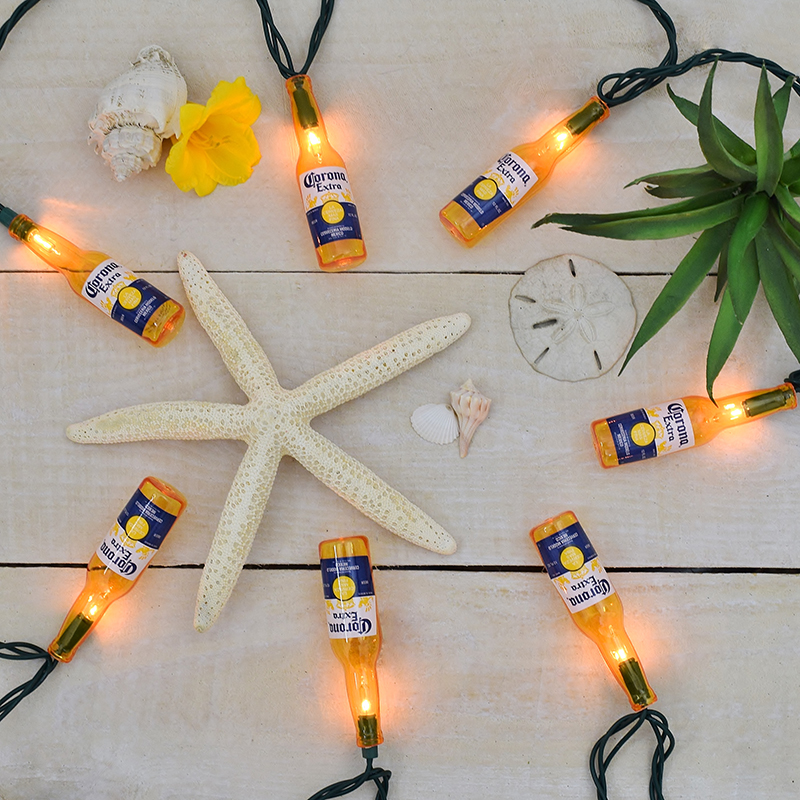 Beer Party String Lights : Corona Extra Beer Bottle Party String Lights - 10 Lights