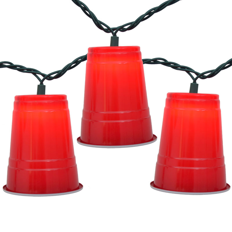 Party Cup String Lights : Red Solo Cup Party String Lights