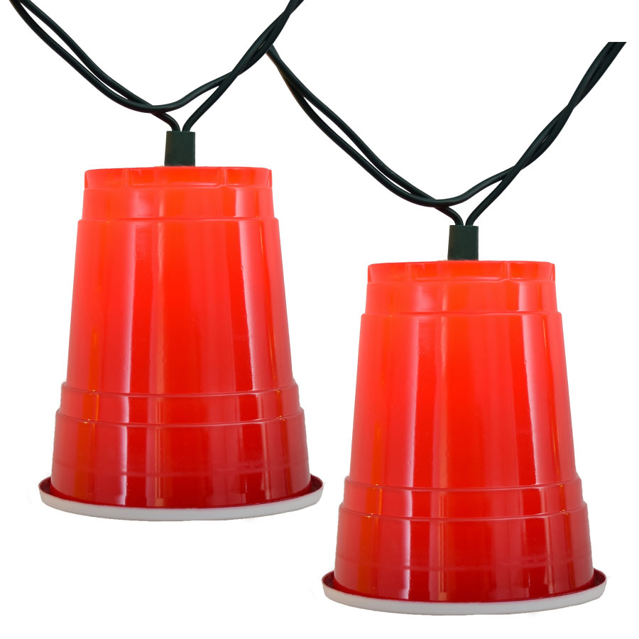Party Cup String Lights : Red Solo Cup Party String Lights - 10 Lights