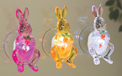 Lighted Acrylic Easter Bunny - Battery Operated