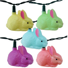 Bunny Party String Lights - 10 Bunny Rabbit String Lights