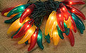 Red, Green and Yellow Chili Pepper Lights - 10 Lights