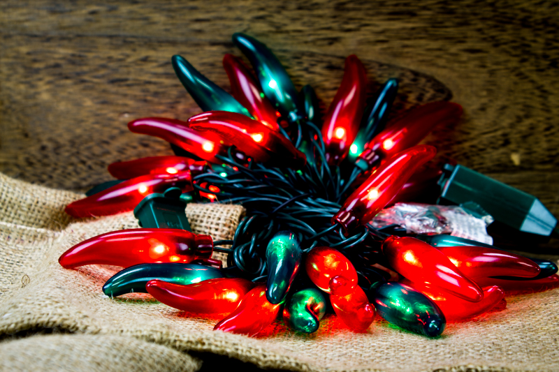 Red Green Chili Pepper String Lights