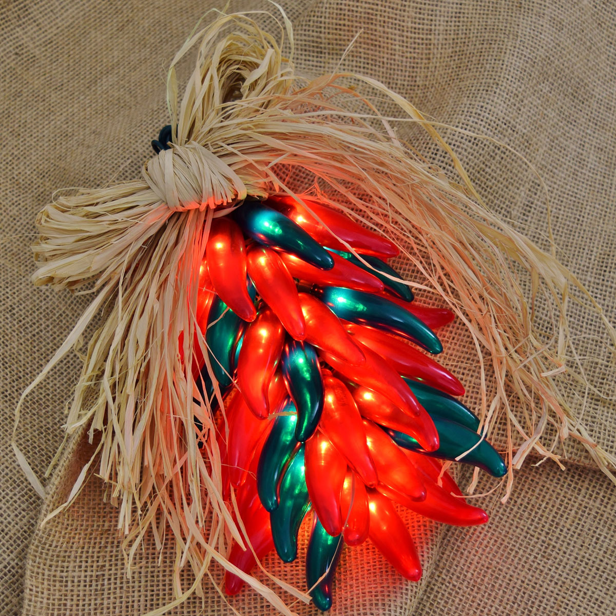 Red Green Chili Pepper Ristra Lights - 35 Lights