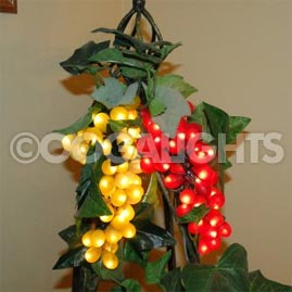 Triple Green Grape Cluster Party String Lights