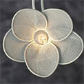 Wire Mesh White Flower Party String Lights - 836681