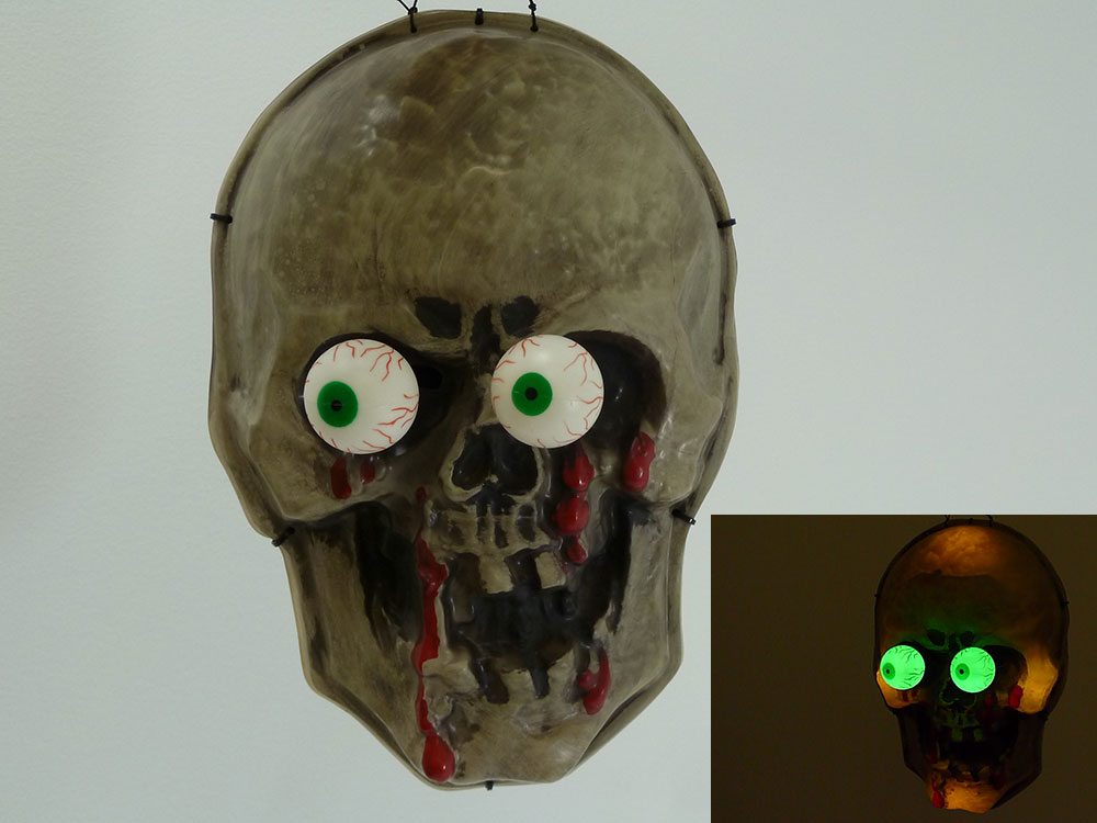 Halloween Skull Creey Eye Light