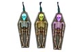 Skeleton & Tombstone Halloween Multi-Color Changing LED Party String Lights - HW1284