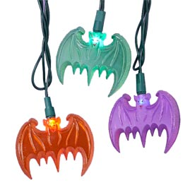 Multi-Color Flying Bats Party String Light Set - Halloween String Lights