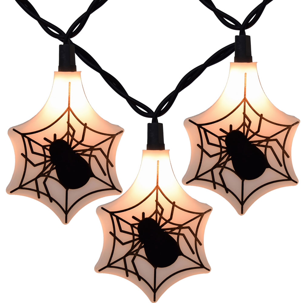 Spider Web Party String Lights