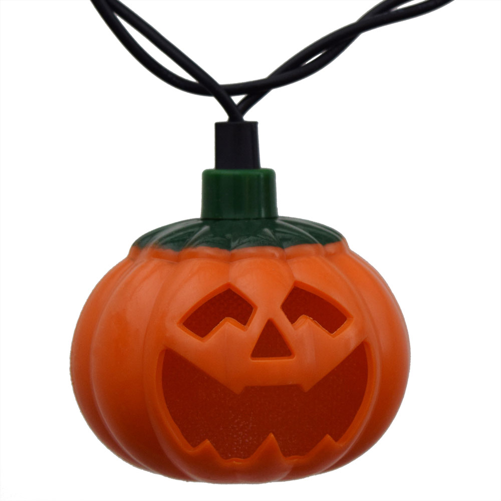 Pumpkin led string lights battery operated