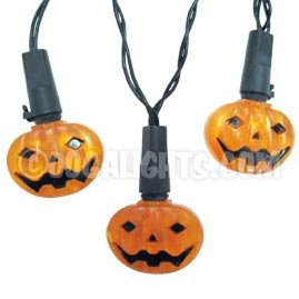 Battery Operated LED Halloween Pumpkin Party String Lights - 15 Lights - Halloween String Lights