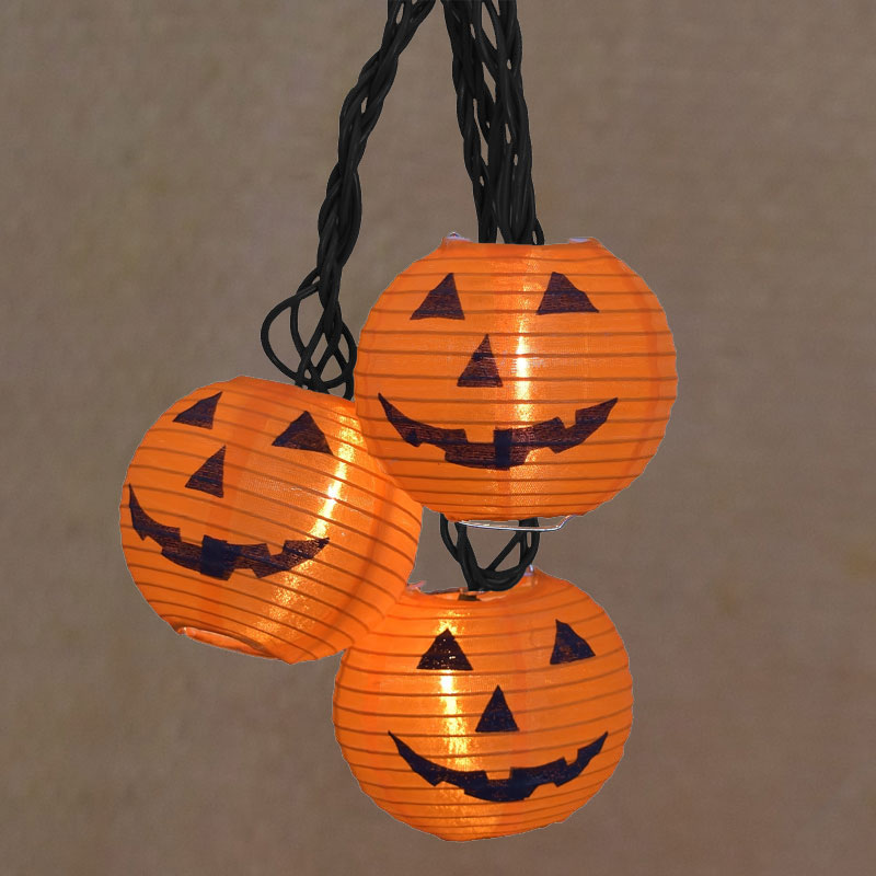 Pumpkin Nylon Lantern Party String Lights Set AI-0668