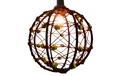 Beaded Copper Wire Ball Lantern Party String Lights - 816876