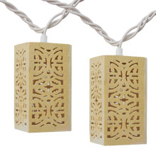 Wood Patterned Party String Lights L739