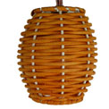 Natural Rattan Barrel Lantern String Light Set - 816965