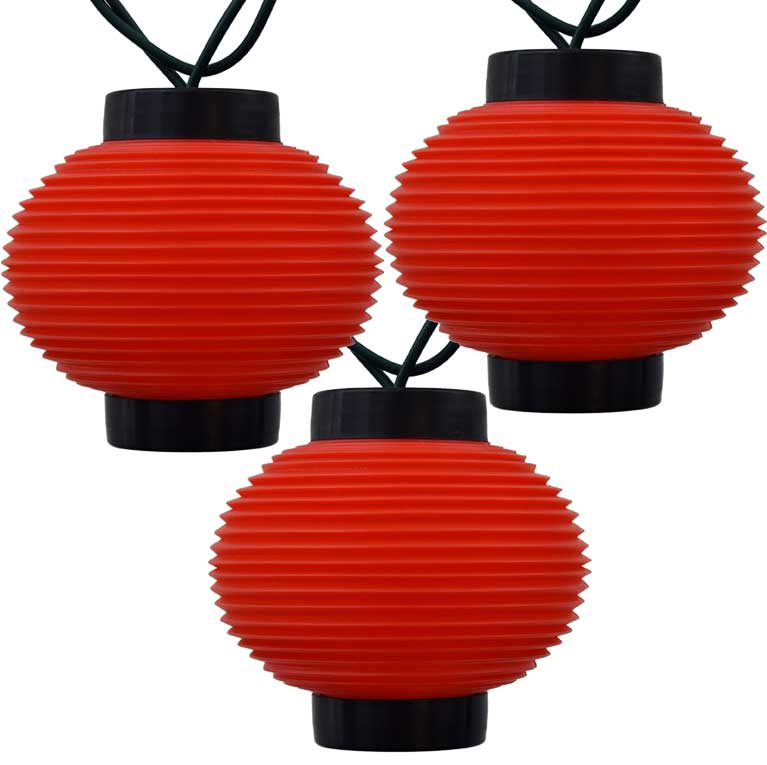 Red Lantern Asian String Lights