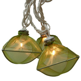 Shimmery Green Gems String Lights