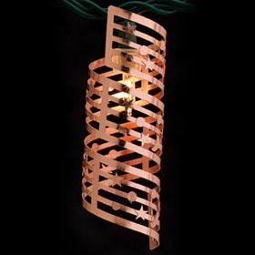 Metal Spiral Copper Stars Party String Lights