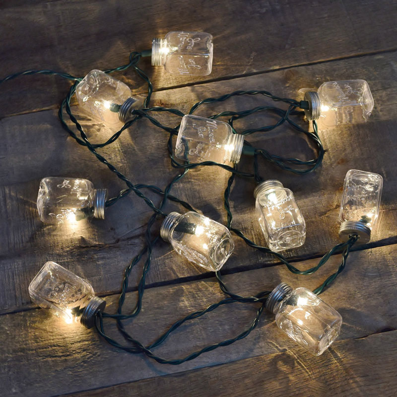Solar Outdoor String Lights Costco: Mason Jar Outdoor String Lights Example
