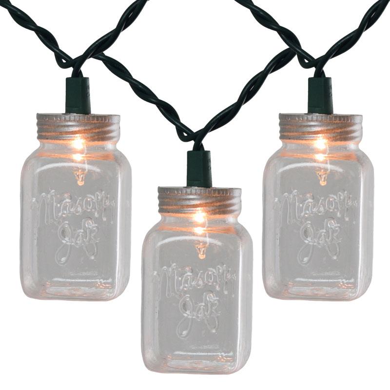 String Lights In A Mason Jar : Clear Mason Jar String Light Set