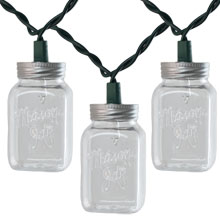 Clear Mason Jar Party String Lights