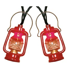 Red Decorative String Lights : Red Prospector Lantern Party String Lights - Oogalights.com - More Than 1,000 Party & String ...