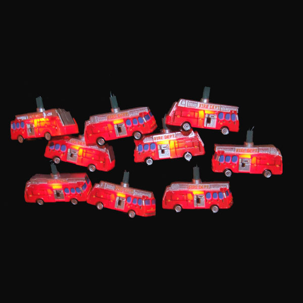 Red Fire Department Truck Party Lights Set