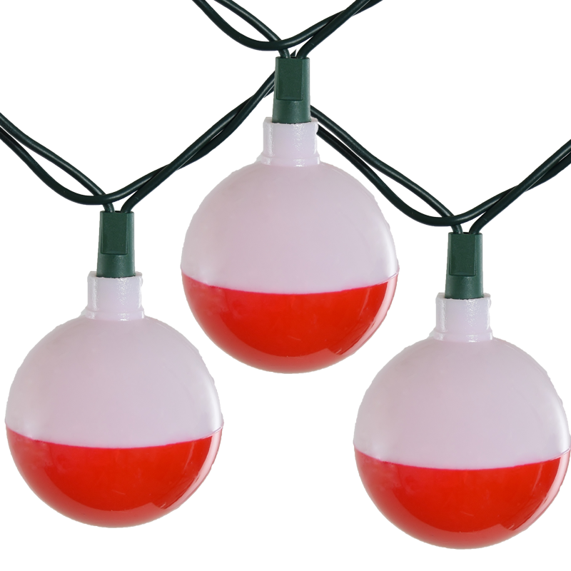 Fishing bobber party string light set camper string for Fish string lights