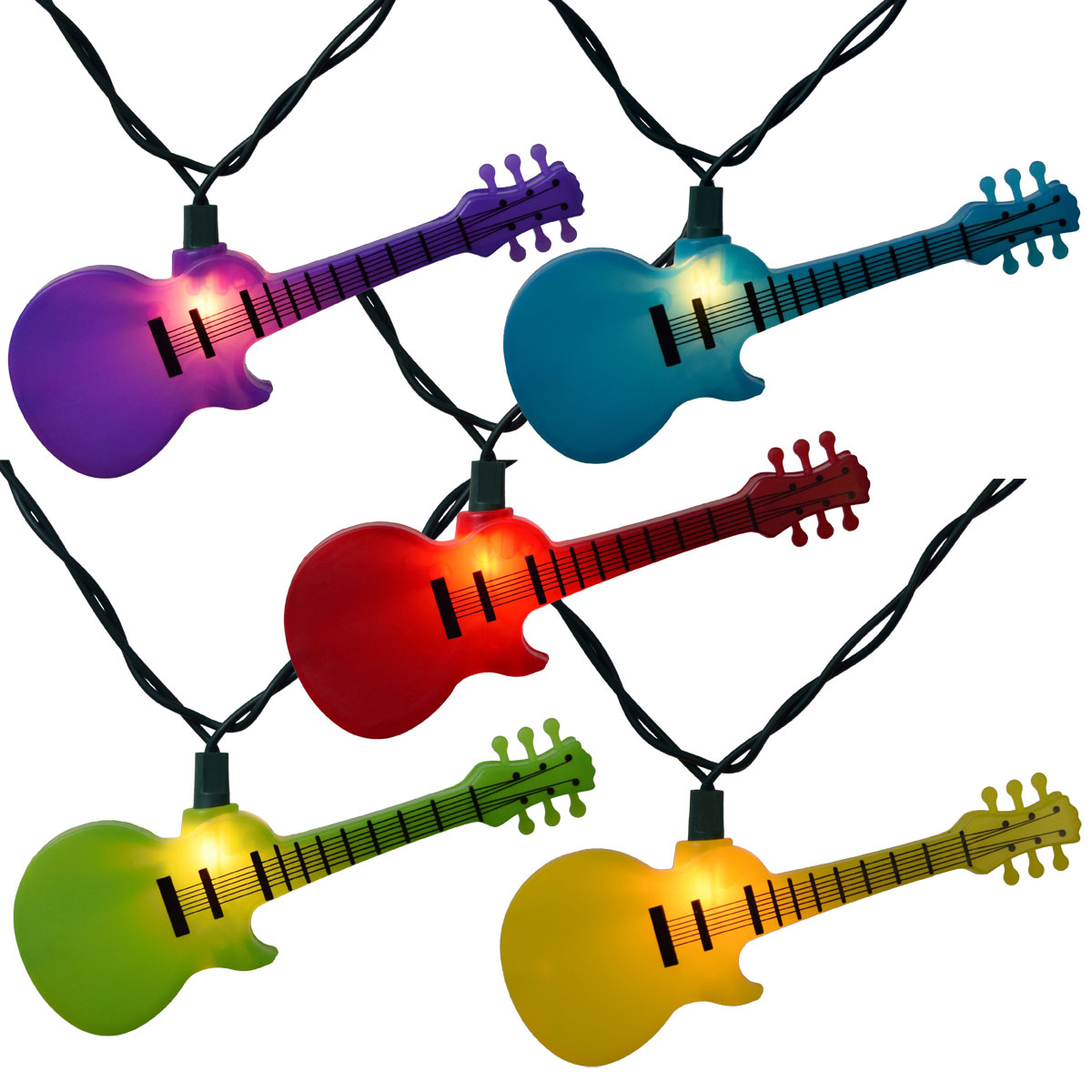 Beer Party String Lights : Multi-Color Guitar Party String Lights
