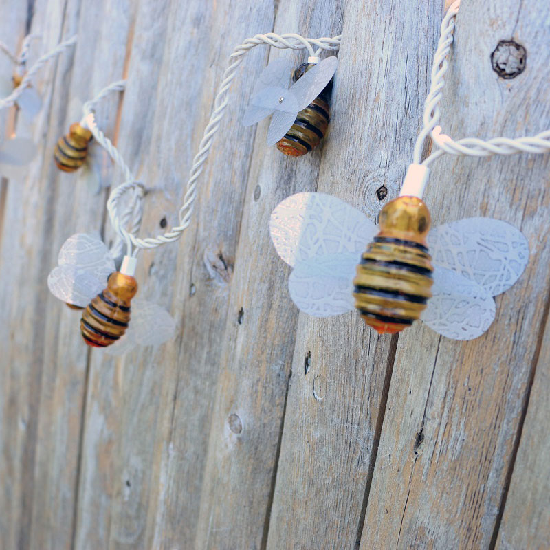 bumble bee party string lights