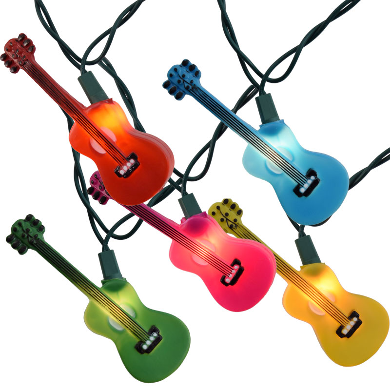 Multi-Color Guitars Novelty String Lights