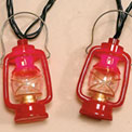 Red Camping Lantern Party String Lights - EG432